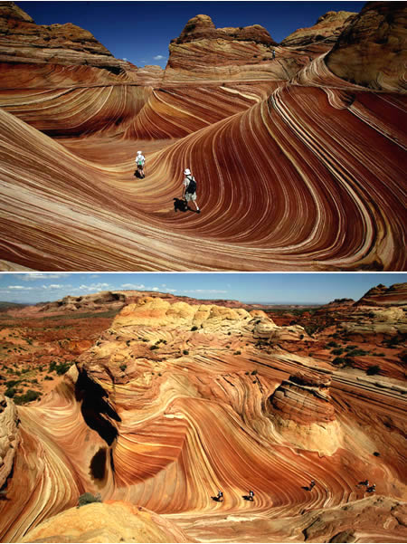 The Wave (between Arizona and Utah - USA)