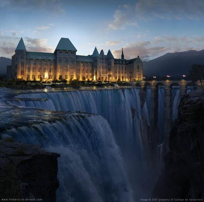 Sebuah universitas pendidikan di Quebec, Kanada, dengan pemandangan kampus yang tidak ada duanya di dunia.